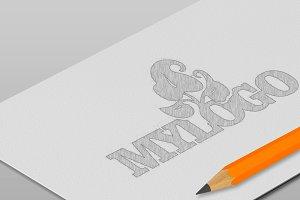 5 Realistic Sketch Logo Mock-ups