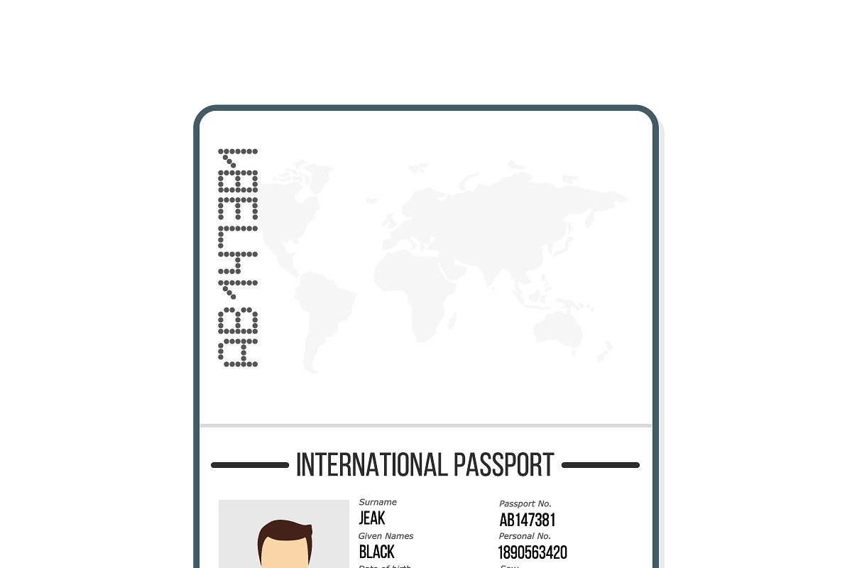 International male passport template