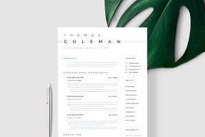 Simple Resume Template CV Template