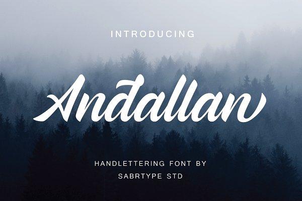 Script Fonts - Andallan Script