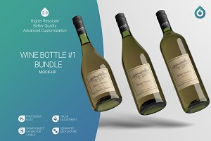 [-33%] Wine Bottle Mock-Up B1 [V2.0]