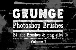 Grunge Texture Photoshop Brushes V1
