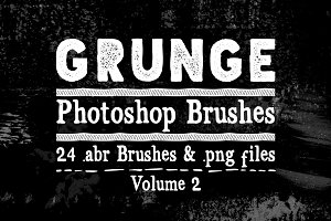Grunge Texture Photoshop Brushes V2