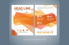 Vector orange wave brochure