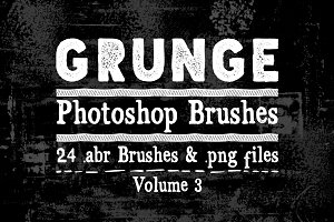 Grunge Texture Photoshop Brushes V3