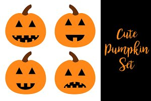 Happy Halloween pumpkin set.