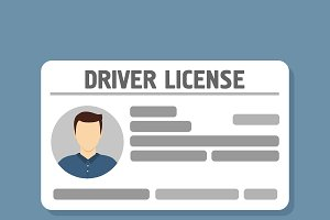 Car driver license identification