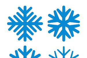 Snowflake icon. Flat vector illustra