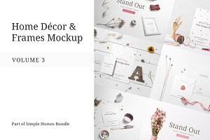 Home Decor and Frames Mockup Vol.3