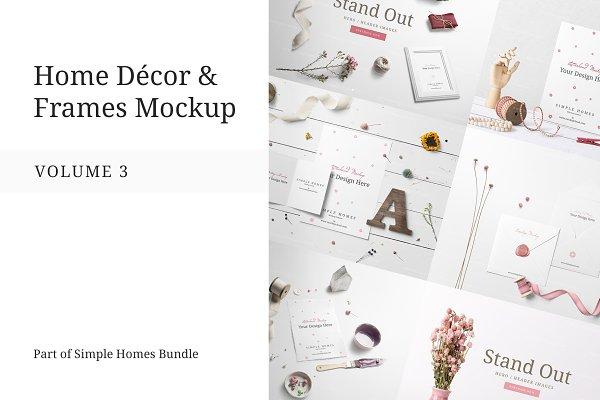 Product Mockups: Mockup Cloud - Home Decor and Frames Mockup Vol.3