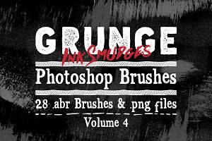 Grunge Ink Photoshop Brushes V4