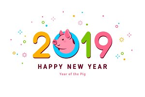 2019 New year pig
