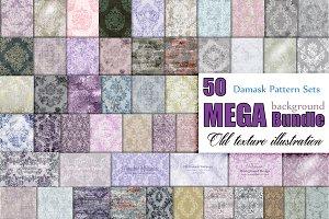 50 vector damask pattern Bundle pack
