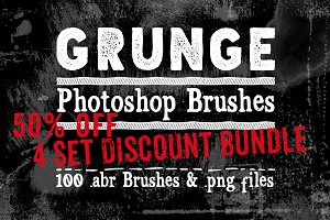 Grunge Texture Photoshop Brushes 50%
