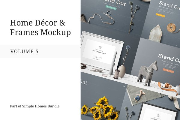 Home Decor and Frames Mockup Vol. 5