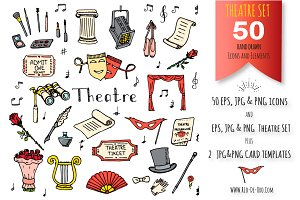 50 THEATRE hand drawn elements!