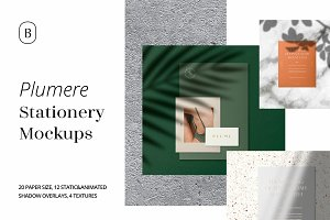 Plumere -Animated Stationery Mockups