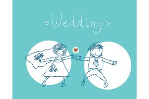 Cheerful wedding.