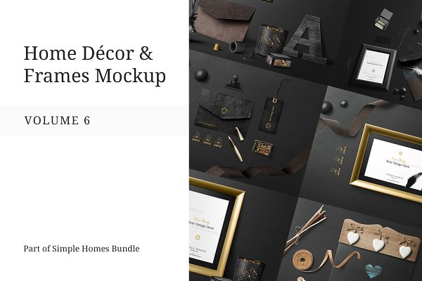 Graphics: Mockup Cloud - Home Decor and Frames Mockup Vol. 6