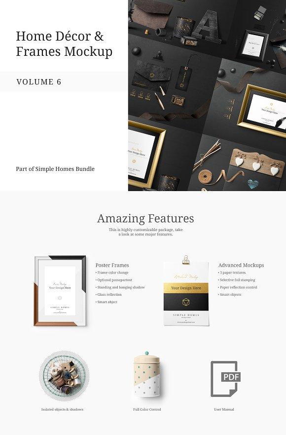 Home Decor And Frames Mockup Vol 6 Product Mockups Creative Market