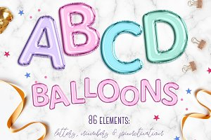 Colorful balloon letters