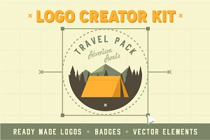 Travel Adventure Logo Creator Kit