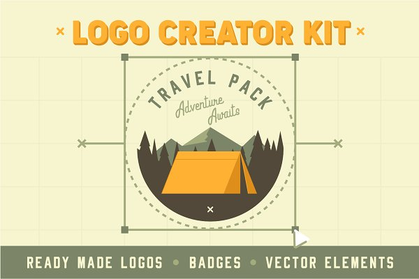 Graphics - Travel Adventure Logo Creator Kit