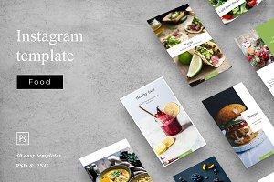 Food - social media template