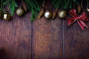Christmas wood style background