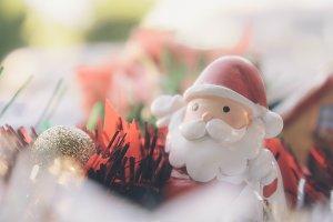 christmas light and santa dolls back