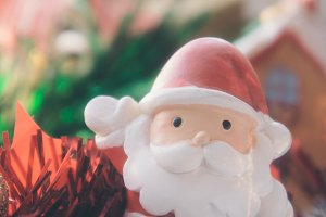 santa claus and chirstmas background