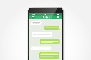 Chatting and messaging. SMS messages