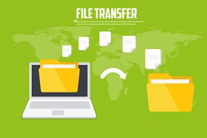 Transfer files. Backup files