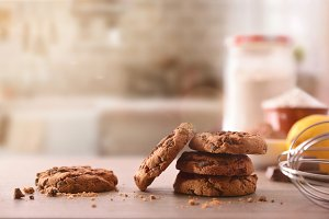 Cookies with chocolate chip rustic