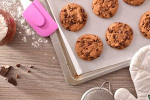Homemade cookies baked detail