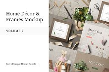 Home Decor and Frames Mockup Vol. 7 by  in Product Mockups