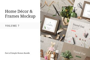 Home Decor and Frames Mockup Vol. 7