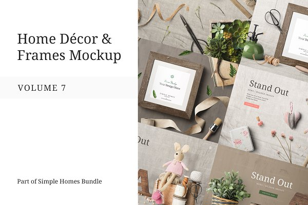 Graphics: Mockup Cloud - Home Decor and Frames Mockup Vol. 7