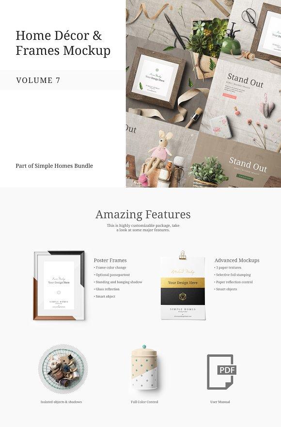 Home Decor And Frames Mockup Vol 7 Product Mockups Creative Market