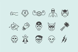 15 Superhero Icons