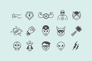 15 Superhero Icons