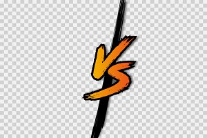 VS. Versus letter logo. Battle