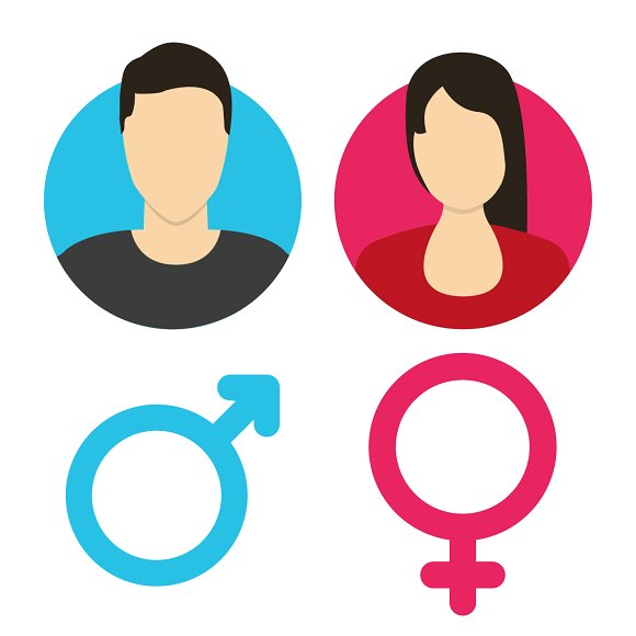 Vector Male And Female Icon Set Illustrations Creative Market
