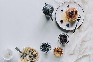 top view of tasty healthy breakfast