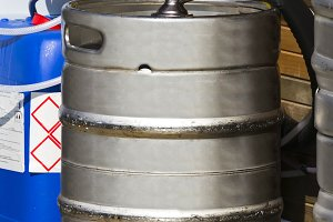 metal beer keg  container