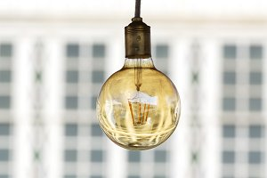 led bulbs decoration in outdoors