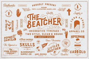 The Beatcher Typeface (Extras)