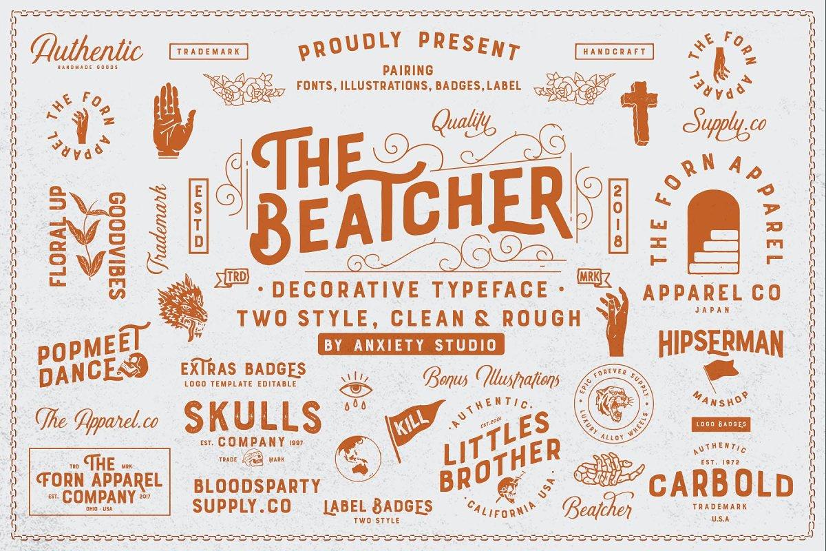 The Beatcher Typeface (Extras)