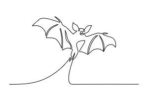 Halloween bat silhouette Continuous