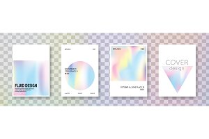 Holographic cover set. Abstract